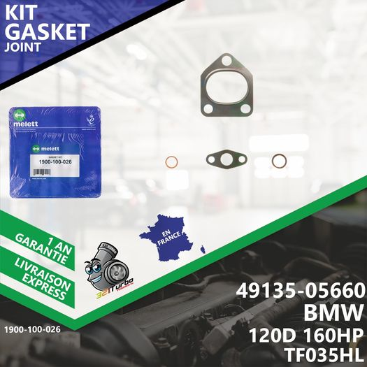 Gasket Kit Joint Turbo BMW 120D 160 CV 49135-05660 4913505660 TF035HL Melett-026